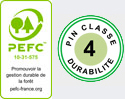 logo pefc pin classe 4 Table bancs DETENTE Accessibilité PMR